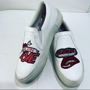 PHILIPP PLEIN White Platform Sneakers Sz 41